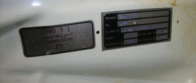 Porsche 911 Carrera 3,2 H-Kennzeichen G 50 Getriebe Interne Nr. 00647